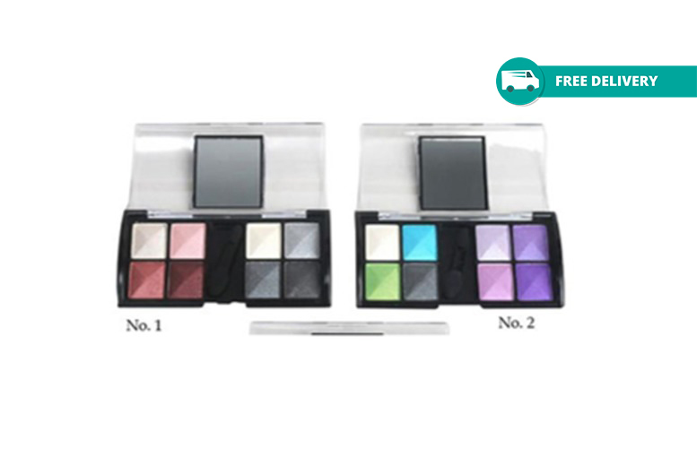 8-Colour Compact Mirror Eyeshadow Palette – 2 Options! for £3.99