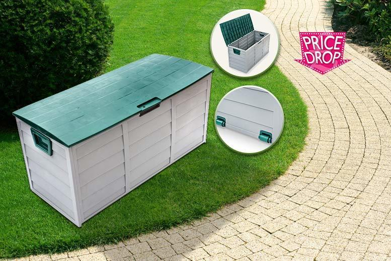 £24.99 instead of £126.99 (from Groundlevel) for a rolling garden storage chest – choose a brown or green lid and save 80%