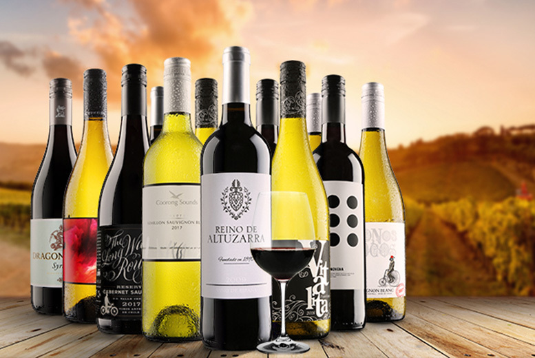 6 or 12-Bottle Virgin Wine Selection – 3 Varieties! from £27.99