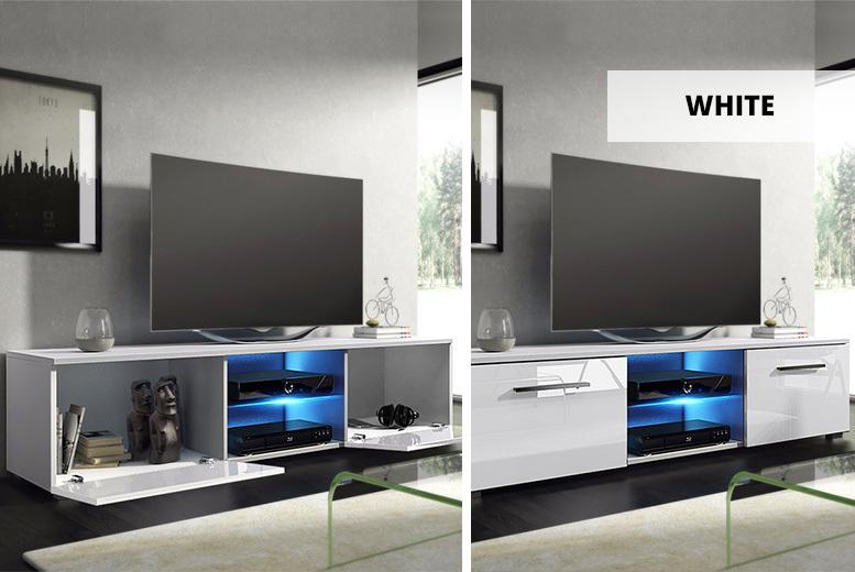 Tenus LED TV Cabinet – 4 Colours! for £89.00