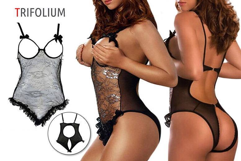 Floral Lace One Piece Lingerie for £5.99