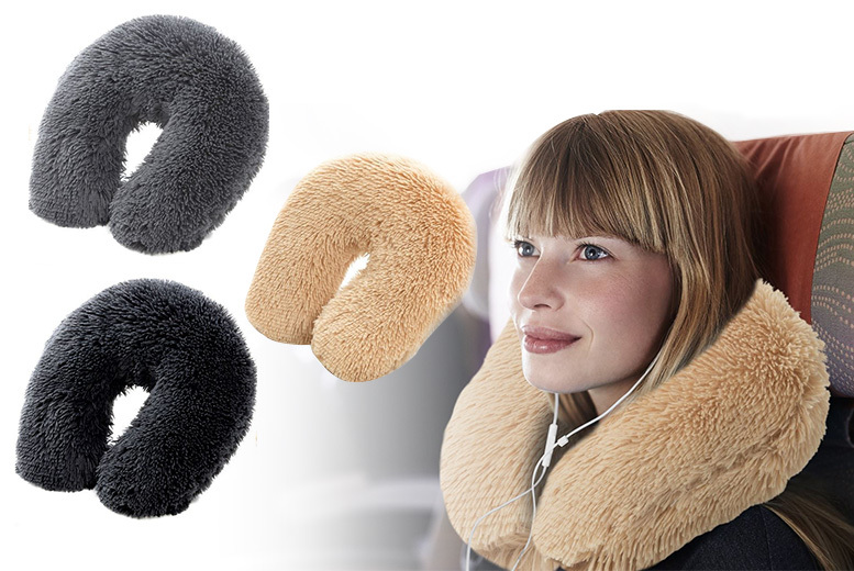 Ultra-Soft Teddy Bear Neck Support Pillow – 3 Colours! for £7.99