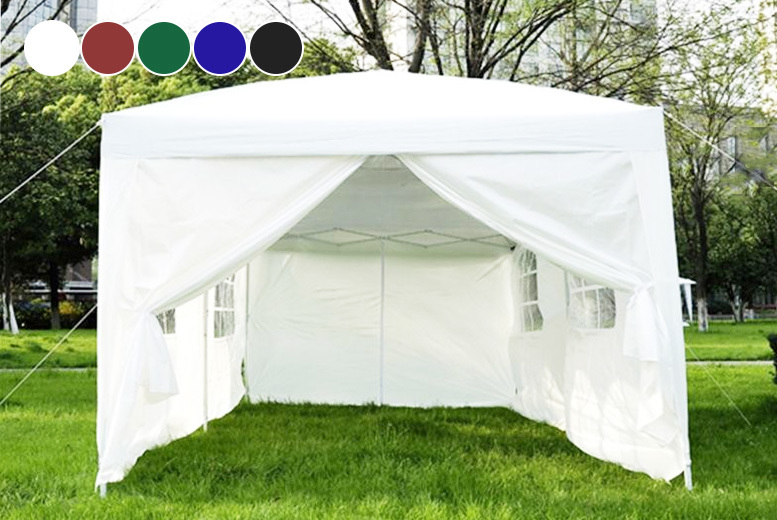 6m x 3m Pop-Up Gazebo Marquee & Carry Bag – 5 Colours! for £119.00