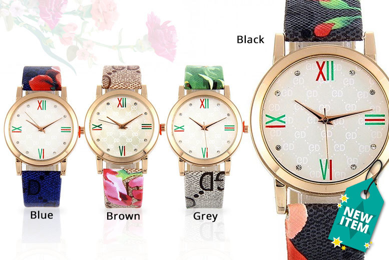 Ladies' Blossom Watch - 4 Colours!