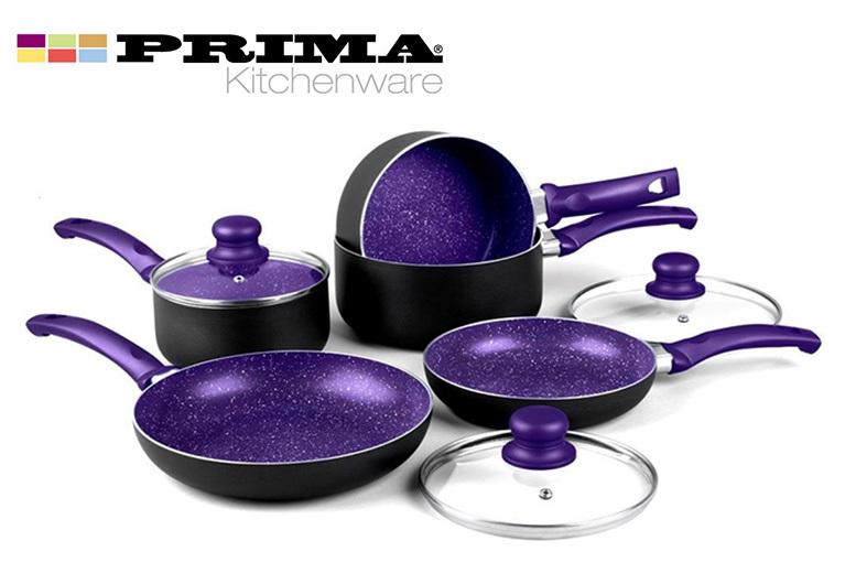 8pcs Non-Stick Induction Pan Set – 4 Colours! from £29.99