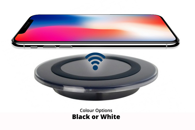 Fast QI Wireless Phone Charging Pad – 2 Colours! for £4.99