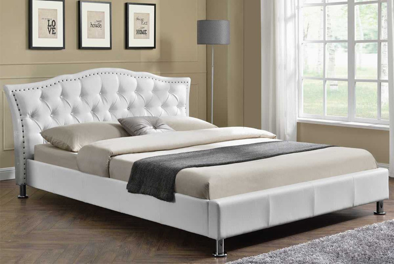Georgio Italian Designer Bed - 2 Size & Upholstery Options!