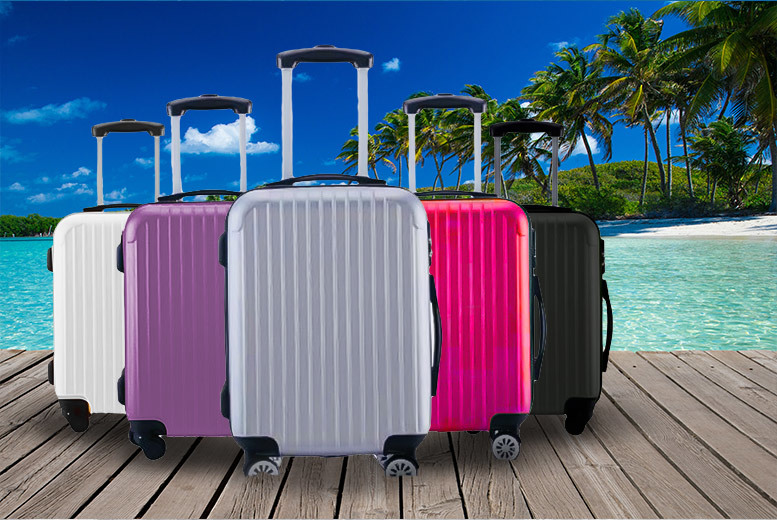 Horro Water-Resistant Cabin Luggage – 5 Colours! for £19.99