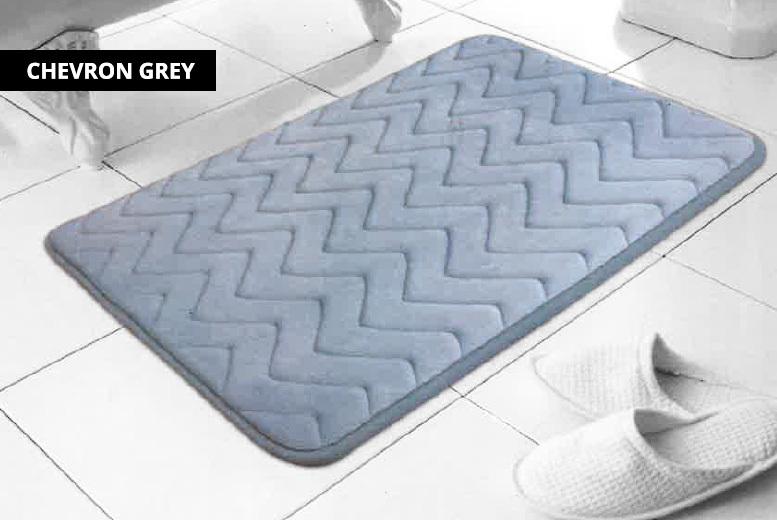 Memory Foam Bathmat – 2 Designs! for £7.99