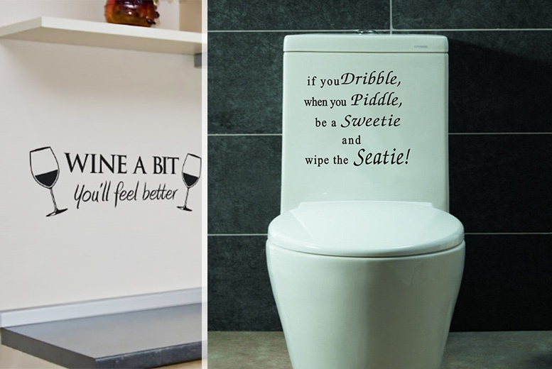 Wall Quote Sticker – 5 Designs! for £4.99