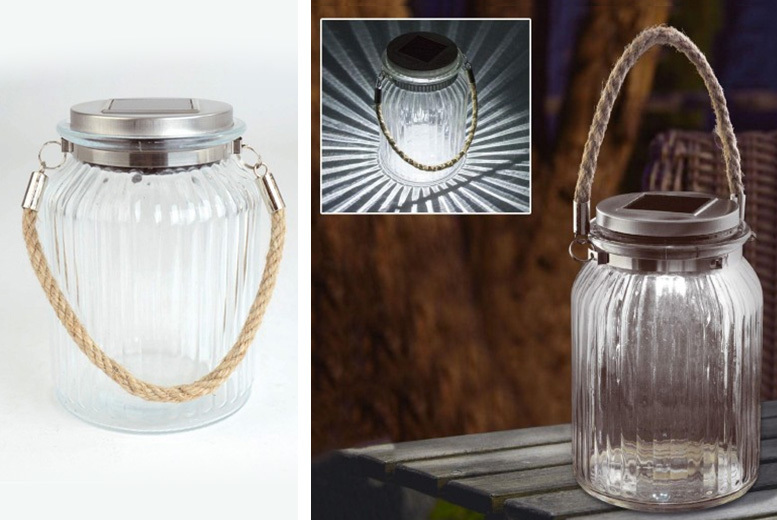 1 or 2 Solar Glass Jar Lights from £4.99