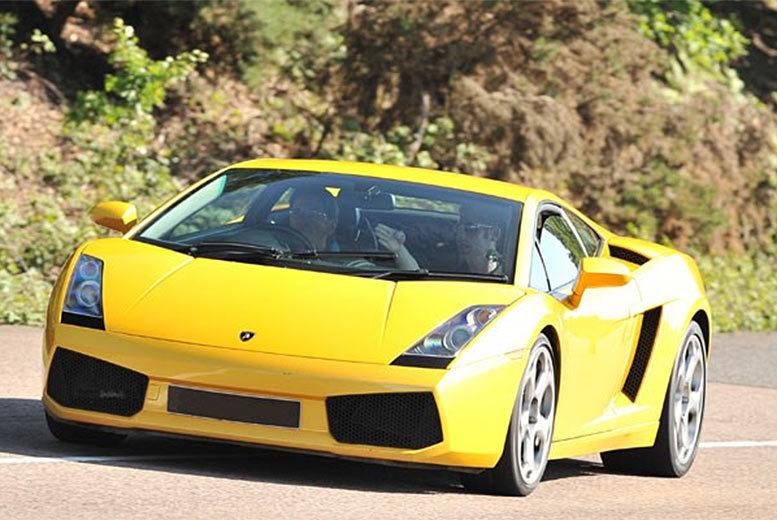 £69 for a Lamborghini supercar driving thrill experience with a high speed passenger ride at 20 UK locations from Buyagift