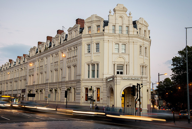 From £99 (at The Angel Hotel) for an overnight Cardiff stay for two, or stay for two nights from £189 - save up to 51%