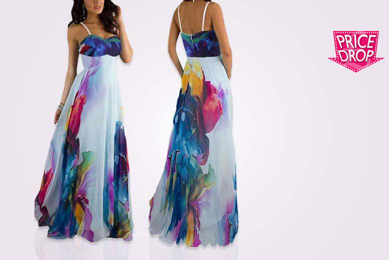 £12 instead of £49.99 (from EFMall) for a floral print maxi dress - take your summer look to great lengths and save 76%
