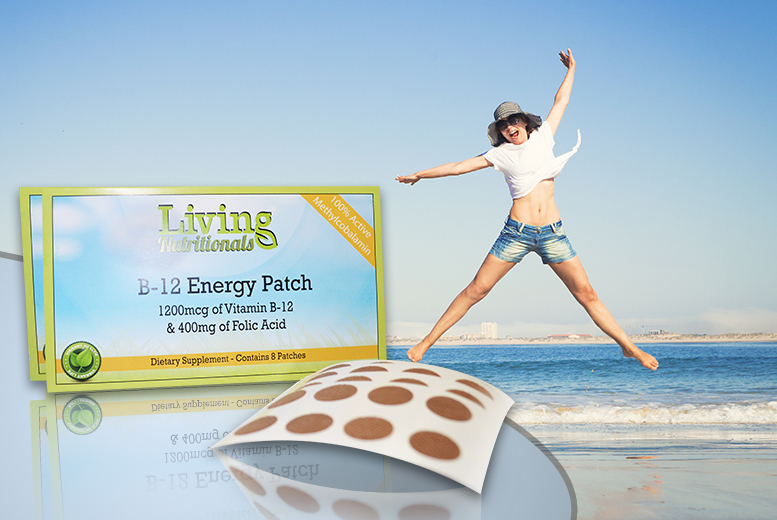 £3.99 (from Real Protein) for a two-month supply* of B-12 'energy' patches, £6.99 for a four-month supply*, £8.99 for a six-month supply* - save up to 83%