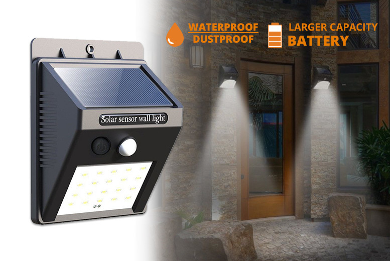 1, 2, 3 or 4 Motion-Activated LED Outdoor Solar Security Lights from £7.99