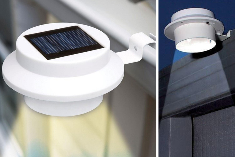 2 or 4 LED Solar-Powered Outdoor Lights – 2 Colours! from £5.99