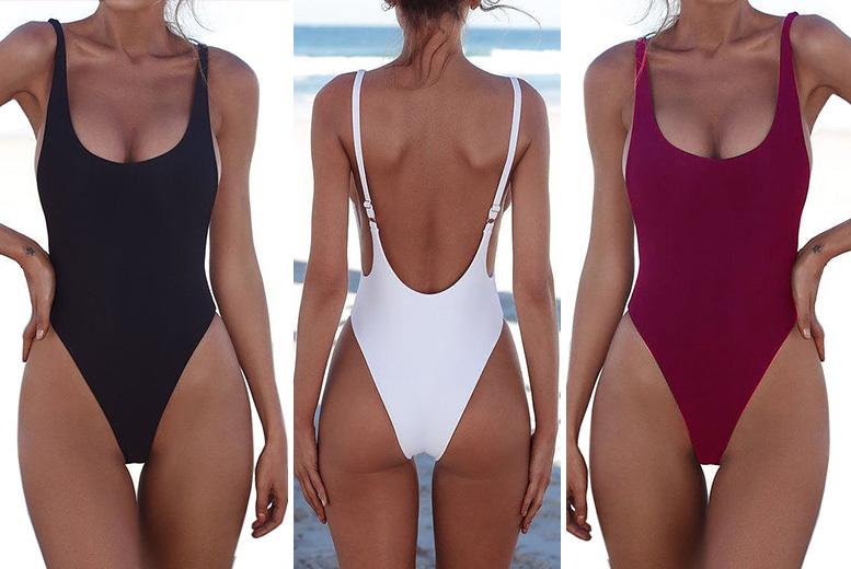 Deep U-Shape Swimsuit – 5 Colours! for £9.00