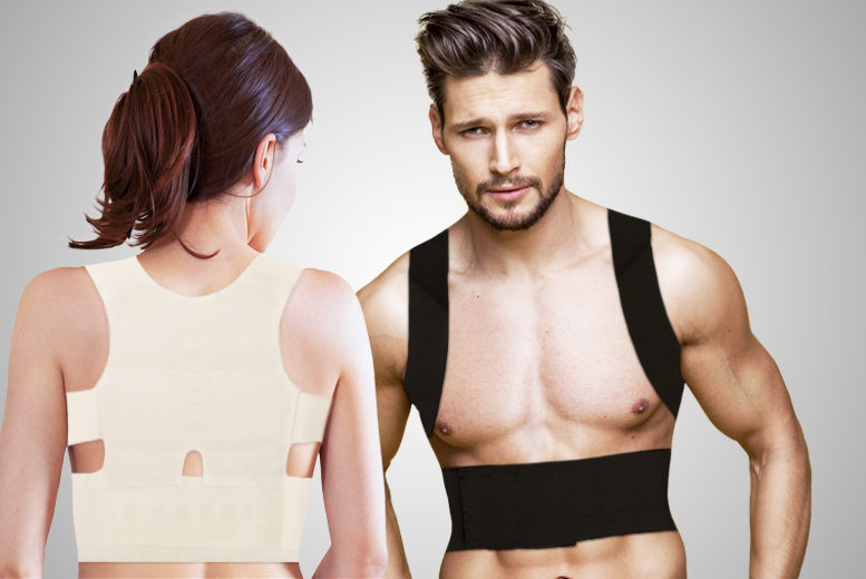 Lightweight Magnetic Stone Back Posture Corrector – 2 Colours! for £4.99