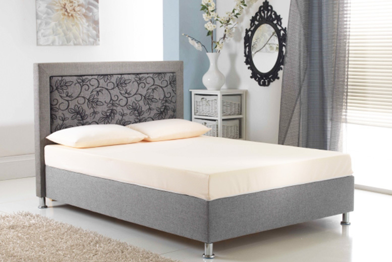 Cool Blue Memory Foam Mattress & 2 Comfy Pillows