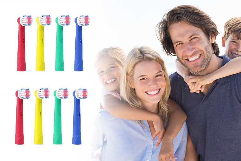 8pc Family Pack Oral-B Compatible Toothbrush Heads