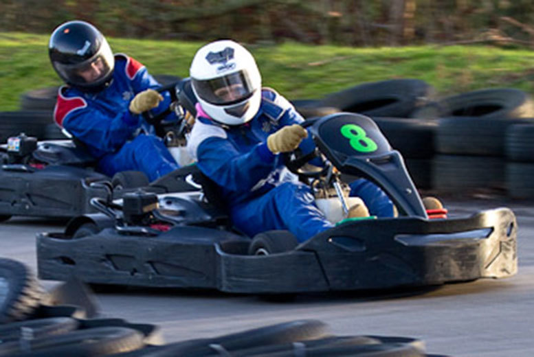 £19 instead of £80 for 80 karting laps for one person, £37 for two people, or £69 for a group of four at West Country Karting, Bristol - save up to 78%