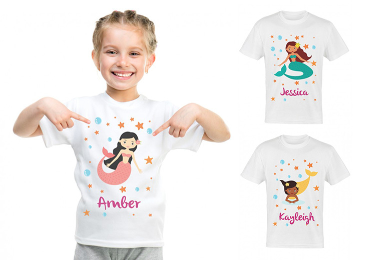 Kids' Personalised T-Shirt – 7 Designs! for £5.99