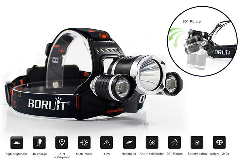 LED Headlamp Torch - 4 Colours!