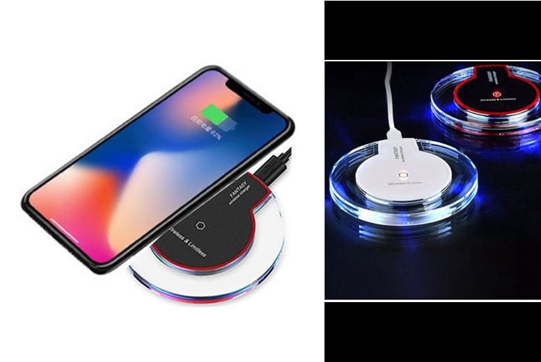 Fast Wireless Phone Charger for iPhone, Samsung, Google & More for £4.99