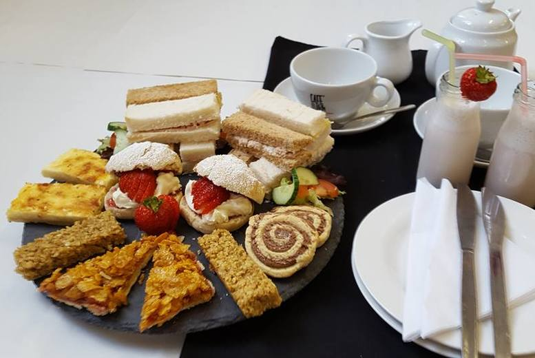 £10 for an old school afternoon tea for two people, £19 for four people at Old School Café, Sheffield - sample delicious fare and save up to 38%