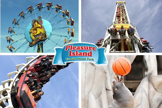 £9 for day entry to Pleasure Island Family Theme Park for 1 person, £17 for 2 people or £32 for 4 people – save up to 47%