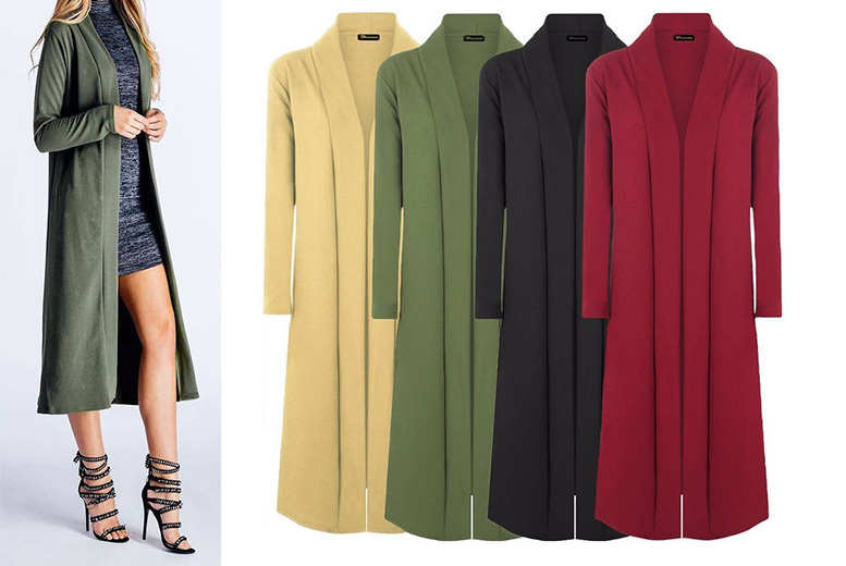 Lightweight Trench Cardigan – 5 Colours! for £10.00