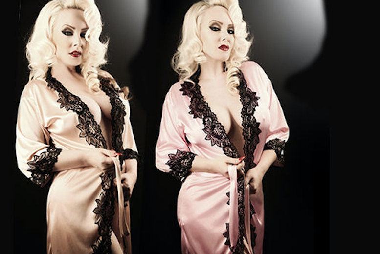 1940's Starlet-Inspired Lace Robe – 2 Colours! for £8.00