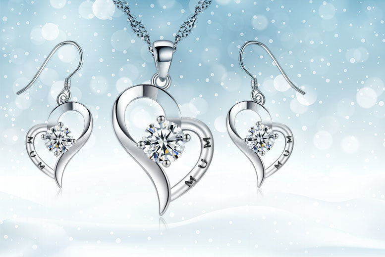 Mum' Jewellery Set made with Crystals from Swarovski for £14.00