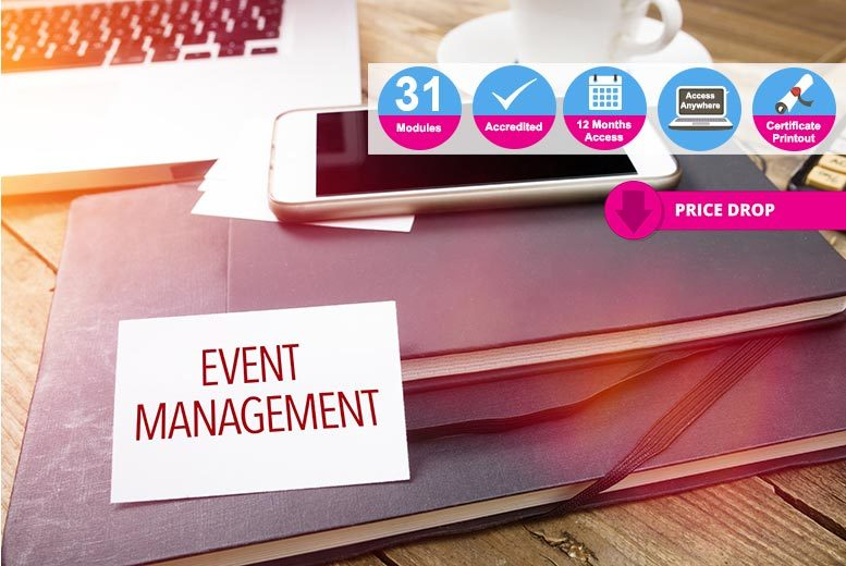 Accredited Event Management with Business & Accounting Course for £19.00