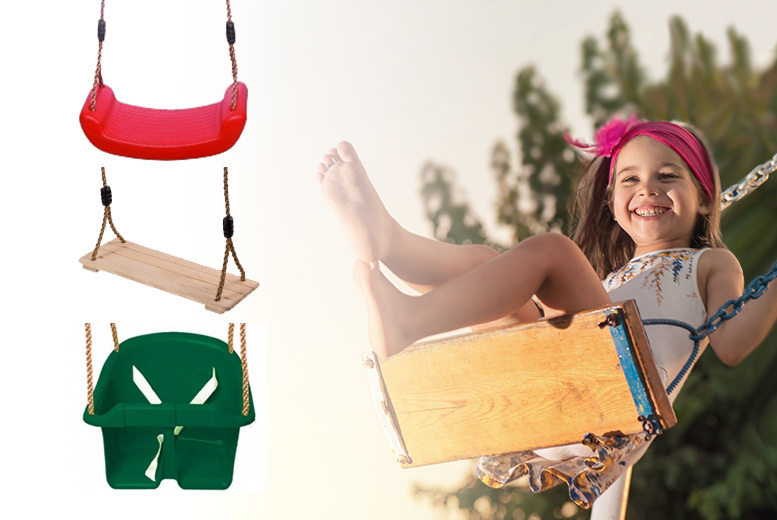 Kids' Garden Swing – 3 Types! from £9.99