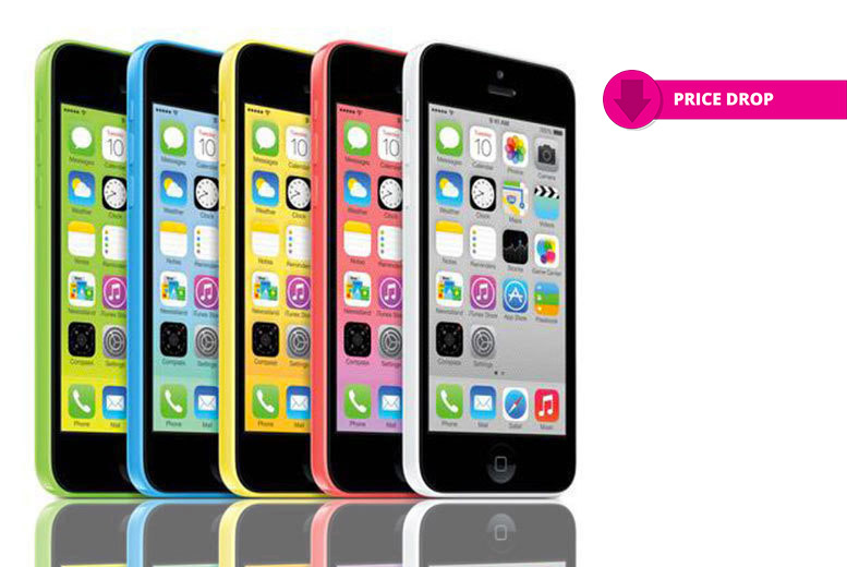 8 or 16GB Apple iPhone 5c – 5 Colours! from £79.00