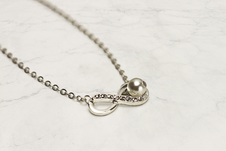 Infinity Drop Crystal Necklace for £5.00