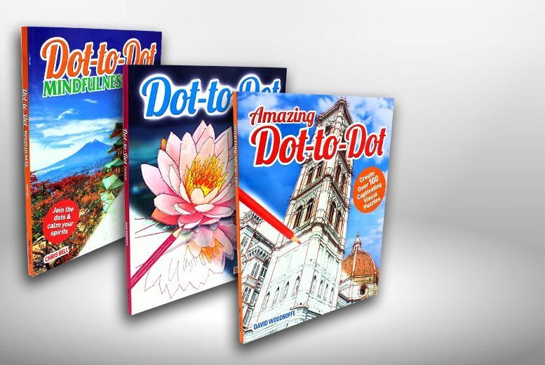 £9.99 instead of £17.98 (from Bangzo) for three mindfulness dot-to-dot books for adults - relax at home and save 44%