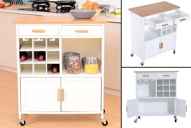 Rolling Kitchen Island Unit for £79.00