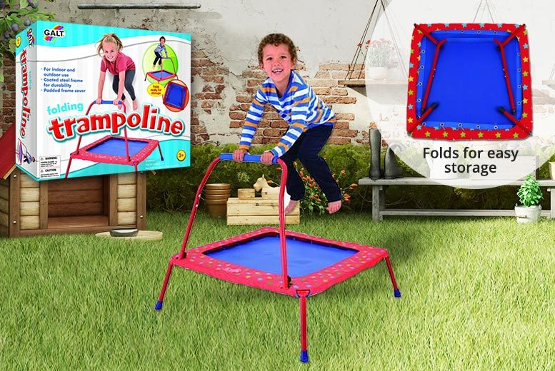 Kids' Folding Indoor & Outdoor GALT Trampoline for £39.99