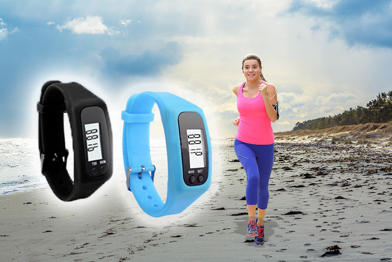 LCD Pedometer Sports Watch