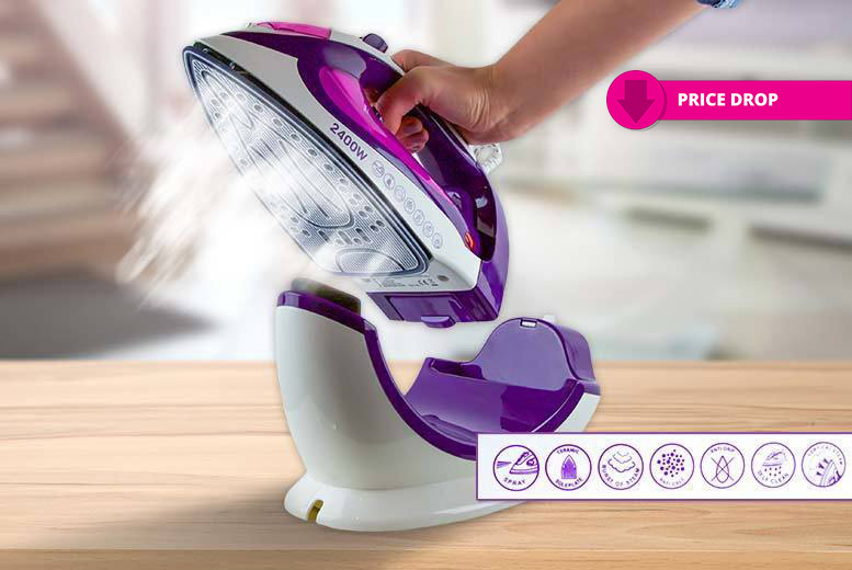 Cordless/Corded 2400W Steam Iron from £19.00