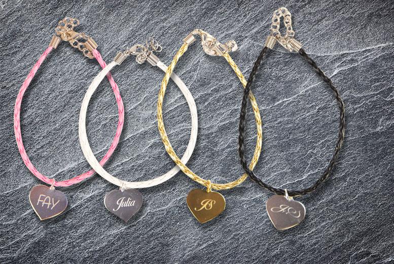 Pandora-Inspired Engraved Bracelet – 5 Colours! for £7.00