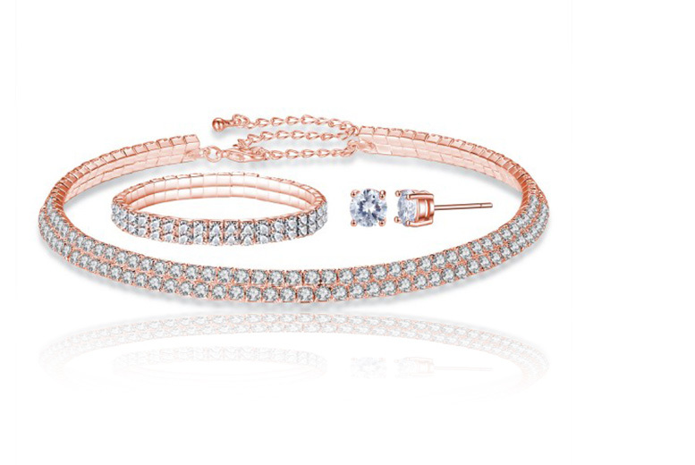 Tri Set Made with Crystals from Swarovski® for £16.00