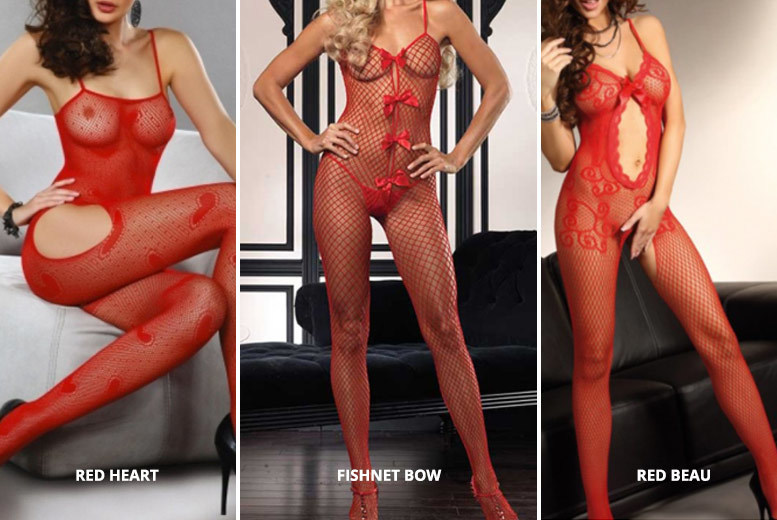 Sexy Red Body Stocking – 5 Designs! for £7.99