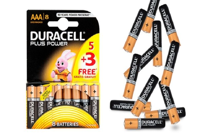 Duracell Plus AAA Batteries - 8 or 12!