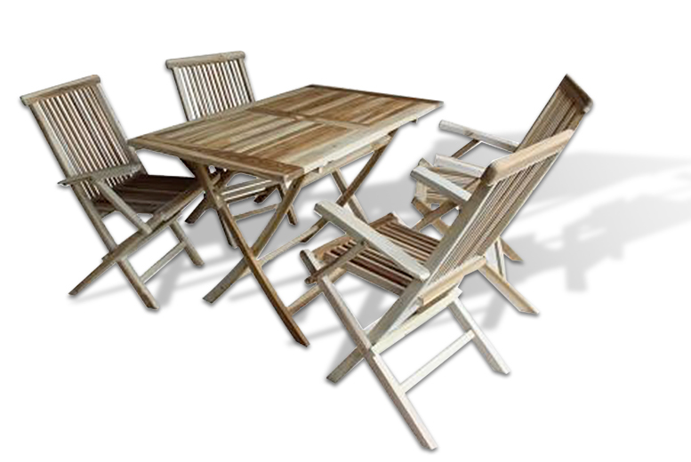 Teak Outdoor Dining Sets – 3 or 5 Pieces! from £79.00