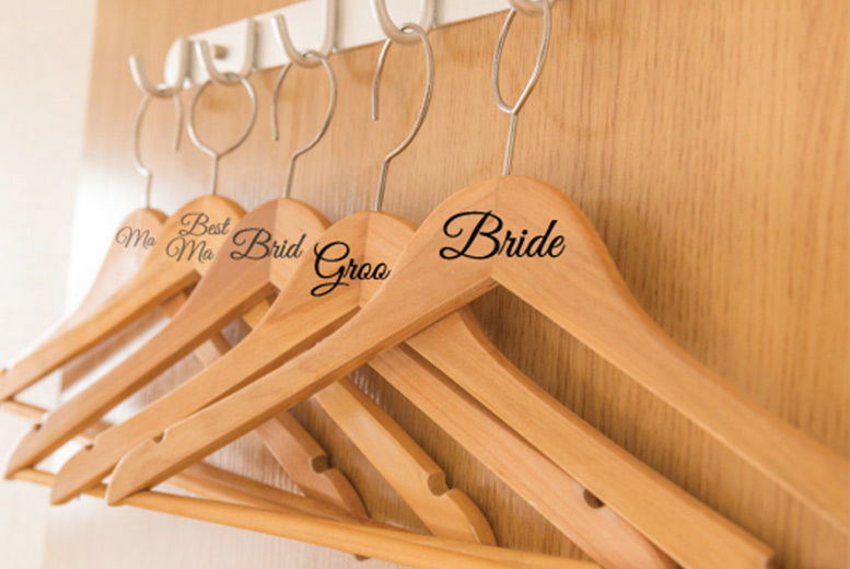 Wedding Role Coat Hanger Stickers from £0.99
