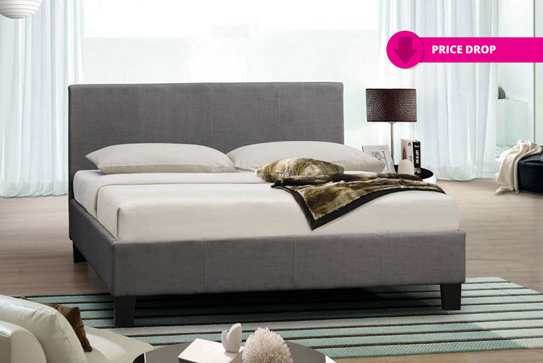 Italian Designer Fabric Bed with Optional Memory Foam Mattress